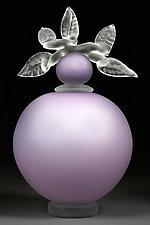 Novi Zivot (New Life) Satin Lilac by Eric Bladholm (Art Glass Sculpture)