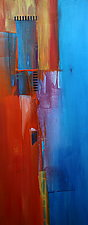 Tangerine Vertical 1 by Nicholas Foschi (Acrylic Painting)
