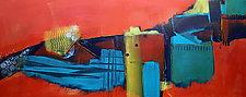 Tangerine Horizontal 1 by Nicholas Foschi (Acrylic Painting)