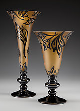 Blackthorn Goblets by Minh Martin (Art Glass Vessel)
