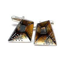 Origami Cuff Links #1 by Sophia Hu (Gold & Silver Cuff Links)