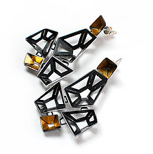Origami Earrings #1 by Sophia Hu (Gold & Silver Earrings)