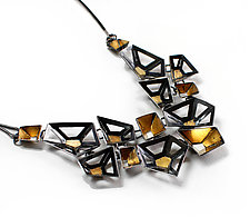 Origami Necklace #2 by Sophia Hu (Gold & Silver Necklace)