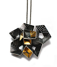 Origami Necklace #3 by Sophia Hu (Gold & Silver Necklace)