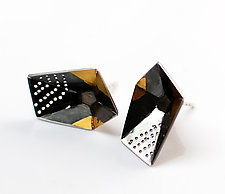 Origami Earrings #5 by Sophia Hu (Gold & Silver Earrings)