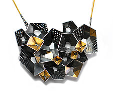 Origami Necklace #4 by Sophia Hu (Gold & Silver Necklace)