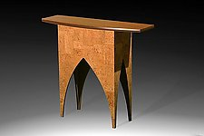 Iberia Bowfront Table by Douglas W. Jones and Kim Kulow-Jones (Wood Console Table)