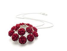 Margarita Pendant by Claudia Fajardo (Beaded Necklace)