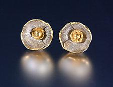 Poppy Earrings by Carol Salisbury (Gold & Silver Earrings)