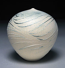White Wave by Nicholas Bernard (Ceramic Vessel)