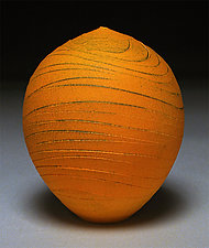 Tangerine Wave by Nicholas Bernard (Ceramic Vessel)