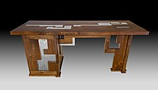 Ultimate Executive Desk by Evy Rogers (Wood & Aluminum Desk)