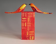 Face to Face by Patty Carmody Smith (Mixed-Media Sculpture)
