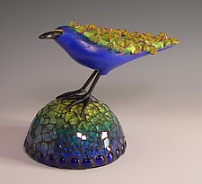 Lemonfeather by Patty Carmody Smith (Mixed-Media Sculpture)