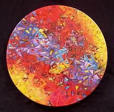 Triangulation by Patty Carmody Smith (Mixed-Media Wall Sculpture)