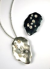 Keshi Pearls on Satin Pin/Pendants by Virginia Stevens (Silver & Pearl Pendant)