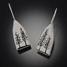Tree House Earrings by Diana Eldreth (Ceramic Earrings)