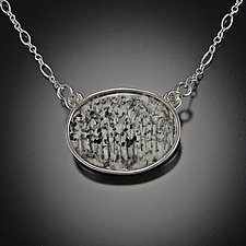 Tree Forest Pendant by Diana Eldreth (Ceramic Necklace)