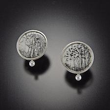 Tree Forest Earrings by Diana Eldreth (Ceramic Earrings)