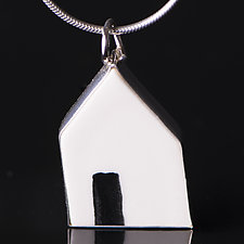 Open Door Pendant by Diana Eldreth (Ceramic Necklace)