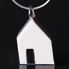 Open Door Pendant by Diana Eldreth (Ceramic Necklace)