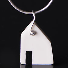 House with Door by Diana Eldreth (Ceramic Necklace)