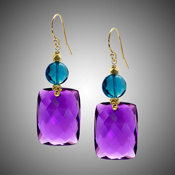 Amethyst and London Blue Earrings