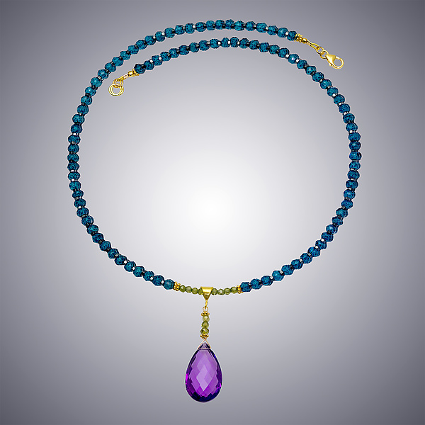 Amethyst and London Blue Necklace