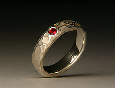 Cobble Band Ruby Ring by Robert Curnow (Jewelry Rings)