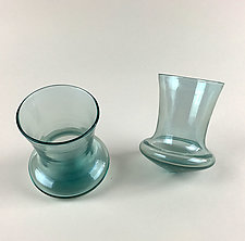 Rollatini Cordial Glasses in Sapphire Blue by Wayne Husted (Art Glass Drinkware)