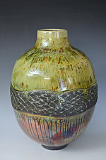 The River Catch by Tom Neugebauer (Ceramic Vase)