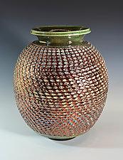 Copper Pineapple Vase by Tom Neugebauer (Ceramic Vase)
