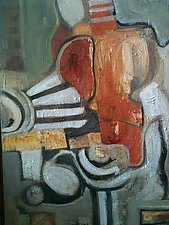 Art Deco Figural by Carole Guthrie (Acrylic Painting)