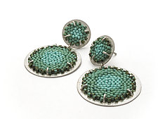 Double Flat Earrings by Claudia Fajardo (Beaded Earrings)