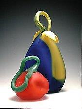 Etched Gourds by David Van Noppen (Art Glass Sculpture)