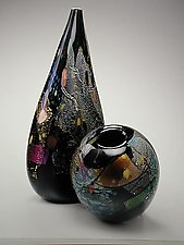 Dichroic Vase Set by David Van Noppen (Art Glass Vessels)