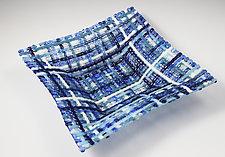Blueberry Patch Woven Basket by Ed Edwards (Art Glass Bowl)