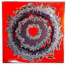 Mandala 7 by Gail McCarthy (Ceramic Wall Sculpture)