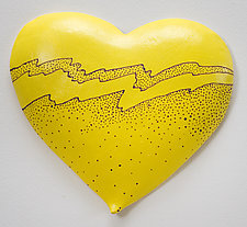 Lemon Heart by Byron Williamson (Ceramic Wall Sculpture)