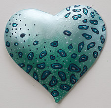 Lovely Heart by Byron Williamson (Ceramic Wall Sculpture)