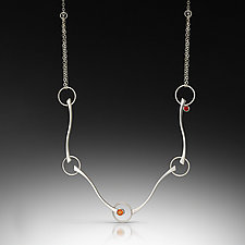 Mares P Necklace by Ellen Ito (Silver & Stone Necklace)
