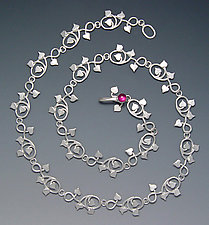Vine Necklace by Ellen Vontillius (Silver & Garnet Necklace)