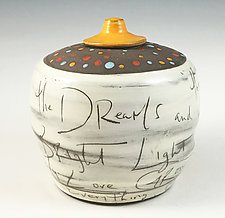 Thank You Jar in Light Orange by Noelle VanHendrick and Eric Hendrick (Ceramic Vessel)