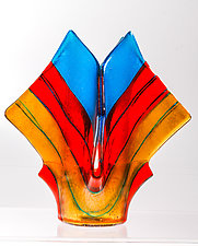 Summer Art Glass Vase by Varda Avnisan (Art Glass Vase)