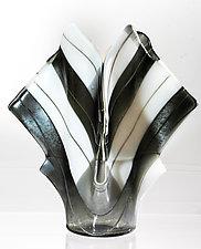 Silver Art Glass Vase by Varda Avnisan (Art Glass Vase)