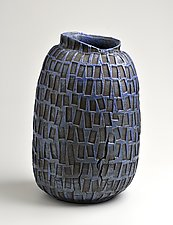 Jar in Royal Blue by Boyan Moskov (Ceramic Vessel)