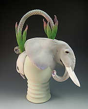 Spirit Elephant Tea by Nancy Y. Adams (Ceramic Sculpture)