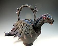 Black Queen Tea by Nancy Y. Adams (Ceramic Sculpture)