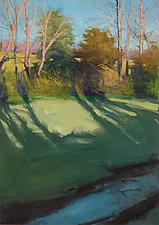 Creekside Illumination by David Skinner (Acrylic Painting)