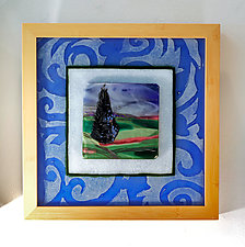 Landscape Tapestry by Alice Benvie Gebhart (Art Glass Wall Sculpture)